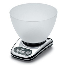 Laica - BX9240, Bilancia da cucina elettronica, 5 kg, 1 g, LCD, CR2032, 170 mm