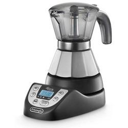 DeLonghi - Alicia Plus EMKP 21.B, Libera installazione, Boccale per moca elettrico, Caffè macinato, 450 W, Nero, Acciaio inossidabile