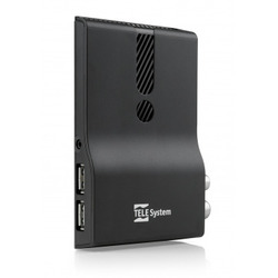 TELE System - TS6810 T2 Stealth, 1920 x 1080 Pixel, 576i,720p,1080i,1080p, AVC,H.264,H.265,MPEG2,MPEG4, AAC HE,MP3, Nero, 1 A
