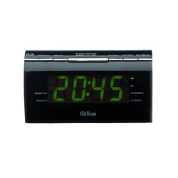 Qilive - Q.1411, Orologio, Digitale, AM,FM, Nero, 6LR61, 9 V