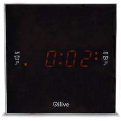 Qilive - Cubic Clock Radio bianca - Q1389