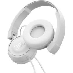 JBL - T450, Cablato, Padiglione auricolare, Stereofonico, Circumaurale, 20 - 20000 Hz, Bianco