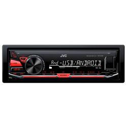 JVC - KD-X130, Nero, 1 DIN, 50 W, 40 dB, 4 Ω, Manopola