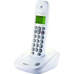 Selecline - 848059, Telefono DECT, Cornetta wireless, Telefono con vivavoce, 20 voci, Identificatore di chiamata, Bianco
