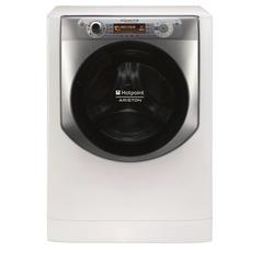 Hotpoint - AQ107D 49D IT, Libera installazione, Caricamento frontale, Argento, Bianco, Manopola, Destra, LCD