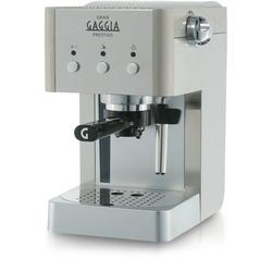 Gaggia - Saeco Macchina per caffè espresso manuale RI8327/08, Libera installazione, Macchina per espresso, 1 L, Cialde caffè, Caffè macinato, 950 W, Acciaio inossidabile