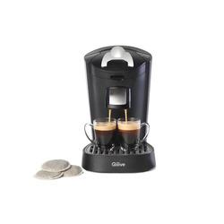 Qilive - 875858, Libera installazione, Macchina per caffè con capsule, 1 L, Capsule caffè, 1450 W, Nero, Argento