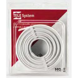 TELE System - 58040006, F, F, Dritto, Dritto, 20 m, Bianco