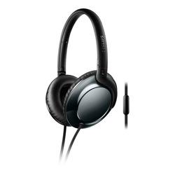Philips - Cuffie con microfono SHL4805DC/00, Cablato, Padiglione auricolare, Stereofonico, Circumaurale, 9 - 24000 Hz, Nero