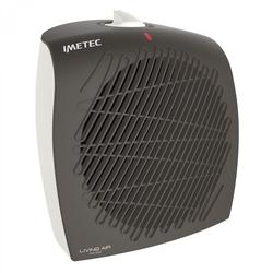 Imetec - Living Air C4-100, Stufetta con elettroventola, CE, Interno, Pavimento, Nero, Bianco, Manopola