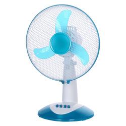 Master - Ventilatore da tavolo 30cm, Ventilatore domestico con pale, Blu, Bianco, Tavolo, Pulsanti, 30 cm, 400 mm