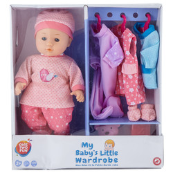 ONE TWO FUN - Baby bambola con guardaroba