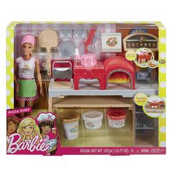 MATTEL - Barbie - La Pizzeria con bambola, tavolo per le pizze e accessori