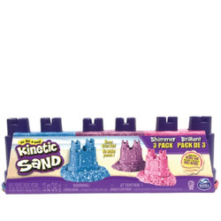 SPIN MASTER - Kinetic Sand Confezione Da 3 Sabbie Brillanti