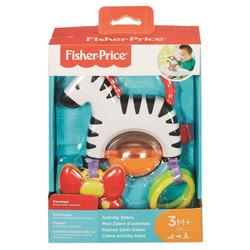 MATTEL - Fisher-Price - Zebra Attività, giocattolo mordicchiabile per neonati
