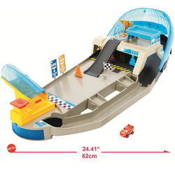 MATTEL - Cars - Pista Pinball Florida Mini Racers, 1 Mini Racer incluso