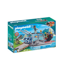 PLAYMOBIL - Barca Con Gabbia Per Dinosauri
