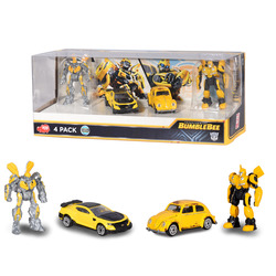 SIMBA - Transformers M6 - Gift Pack Bumblebee Robot e Auto Die Cast 1:64