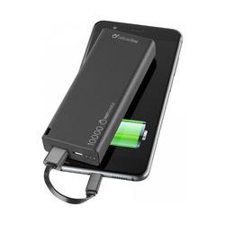 Cellularline - Caricabatteria Emergenza 10000 Un., Nero, Universale, Polimeri di litio (LiPo), 10000 mAh, USB, 2,1 A