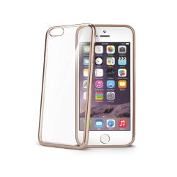 """Celly - BCLIP6SGD, Custodia con bordo, Apple, iPhone 6S, 11,9 cm (4.7""""), Oro"""