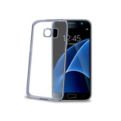 Celly - Laser, Cover, Samsung, Galaxy S7, Blu, Trasparente