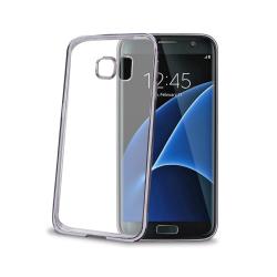Celly - Laser, Cover, Samsung, Galaxy S7 Edge, Blu, Trasparente