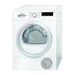 Bosch - Serie 4 WTH85218IT, Libera installazione, Caricamento frontale, Pompa di calore, Bianco, Manopola, Touch, Destra