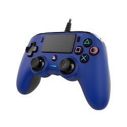 NACON - PS4OFCPADBLUE, Gamepad, PlayStation 4, Share, Cablato, Blu, 3 m