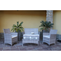 INTERNATIONAL - SET RATTAN SINT 4 PZ CON CUSC
