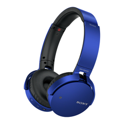 Sony - Cuffie Wireless con bassi potenziati, Driver da 30 mm, Bluetooth, NFC, Blu