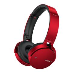 Sony - Cuffie Wireless con bassi potenziati, Driver da 30 mm, Bluetooth, NFC, Rosso