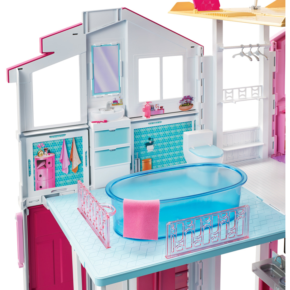 Mattel la casa di malibu di barbie shop online su auchan for Casa malibu barbie
