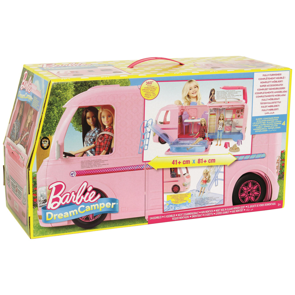Mattel barbie camper dei sogni con piscina bagno for Piscina di barbie