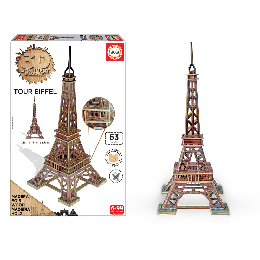 grandi giochi puzzle 3d torre eiffel shop online su auchan. Black Bedroom Furniture Sets. Home Design Ideas