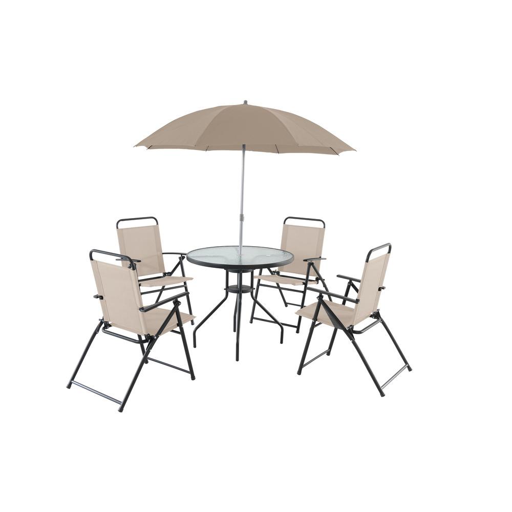 Auchan Tavoli Da Esterno.Gardenstar Set Tavolo Ombrellone Sedie Grigio Chiaro Shop