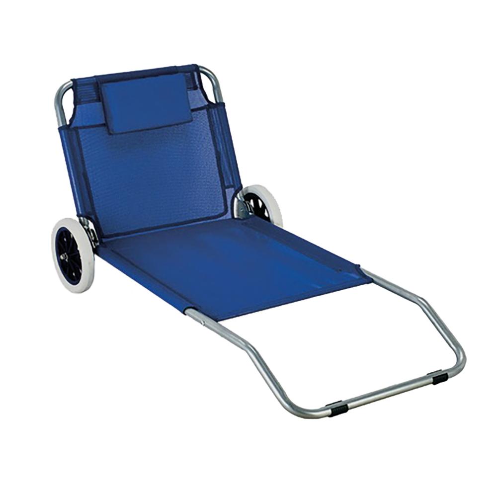 Lettino Da Mare E Da Sole Con Ruote Sdraio Trolley.International Spiaggina Trolley Alluminio E Textilene Shop Online