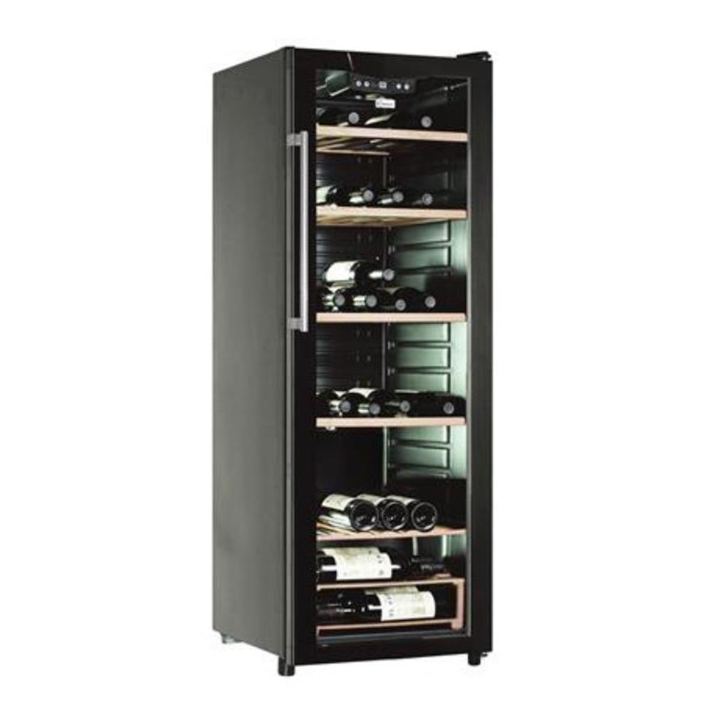 CCV 1420 GL, Libera installazione, Nero, Nero, 6 ripiani, Nero, Acciaio inossidabile