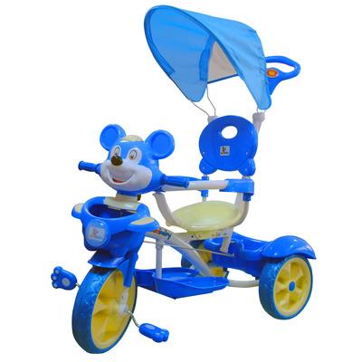 Triciclo Volpe Blu Con Telaio In Metallo
