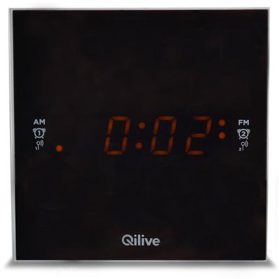 Cubic Clock Radio bianca - Q1389