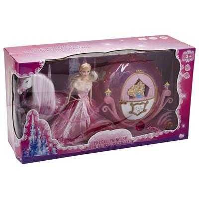 Graziosa principessa con carrozza